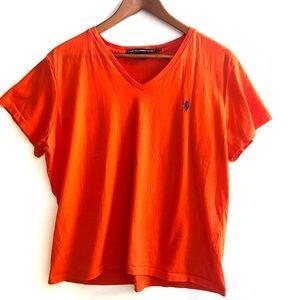 Ralph Lauren Sport V-Neck T-shirt Orange